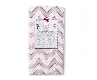 美國【Swaddle Designs】薄棉羅紗包巾組 -1入(山型紋粉紅)