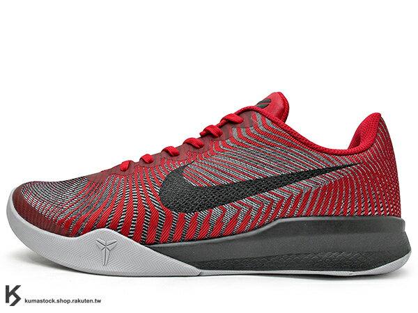 2016 最新款 Kobe Bryant 代言子系列 中價位籃球鞋 NIKE KB MENTALITY II 2 EP 低筒 紅黑 紅黑銀 HYPERFUSE 透氣鞋面 LUNARLON 避震鞋墊 籃球鞋 湖人 (818953-600) 0816