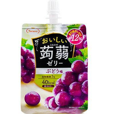 Tarami達樂美吸管蒟蒻果凍-葡萄(150g)