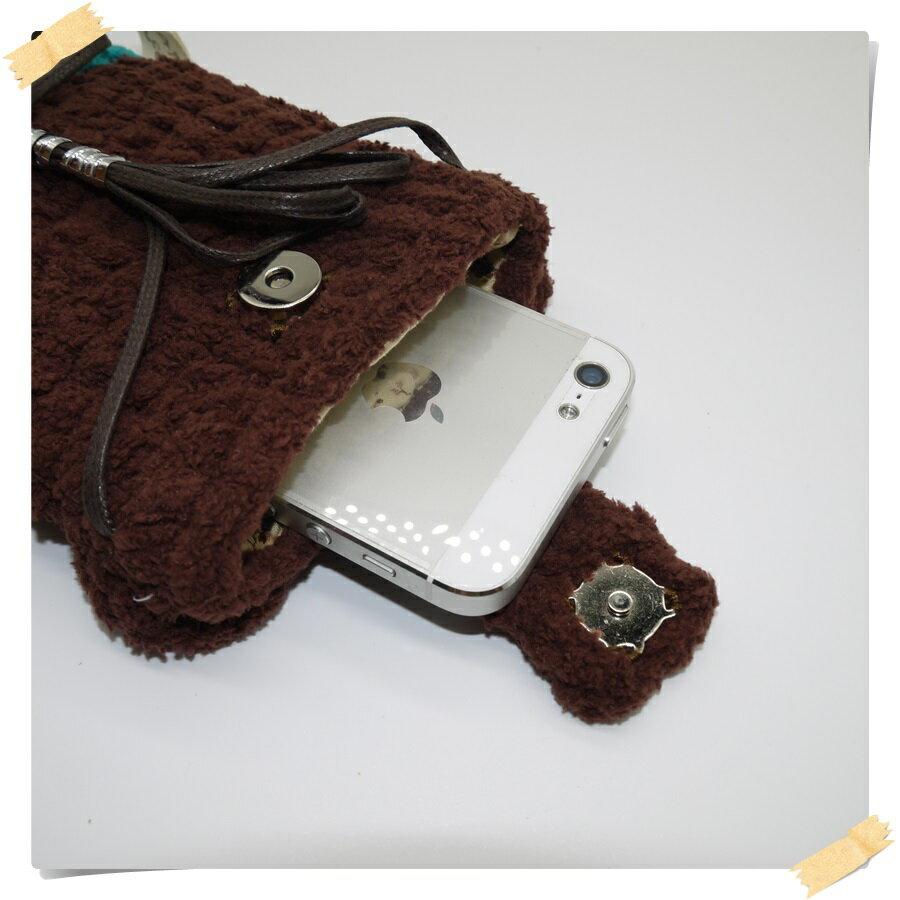 台湾乐天市场:毛线编织动物手机袋