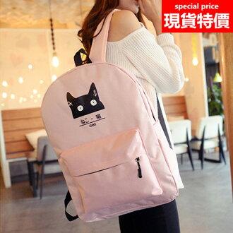 後背包-現貨販售- 日系小貓咪防水尼龍後背包包-寶來小舖-BB03291