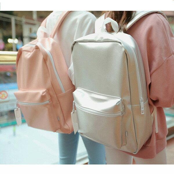 後背包 優質簡約皮革後背包包-LEFTM8【寶來小舖】現貨販售