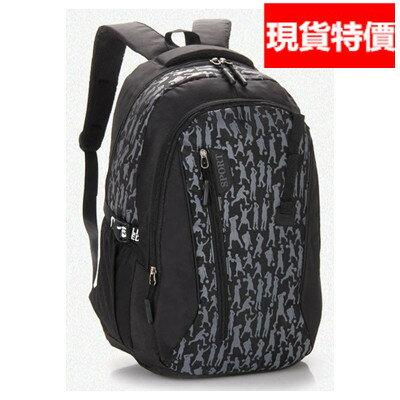 (現貨 附發票)後背包 大容量防水尼龍運動剪影休閒旅行包(A808系列) /寶來小舖