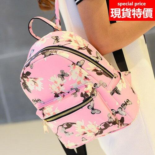 (現貨 附發票)後背包 流行時尚蝶戀花休閒小包 BB-70137【寶來小舖 BOLAI SHOP 】