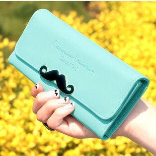 (現貨 附發票)皮夾 鬍子系列長夾  手機錢包 手拿包 寶來小舖(Hau001)
