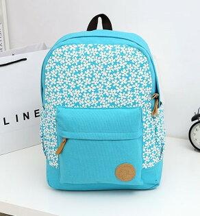 (現貨 附發票)後背包 日系櫻花朵朵學院風後背包 休閒旅行包書包通勤包 /寶來小舖