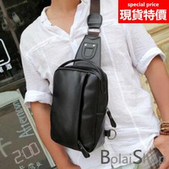 (現貨販售) Y1898新款優質皮革胸包.斜背包 側背包  男女皆宜 【寶來小舖 Bolai shop】