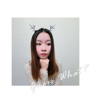 G.W. 聖誕限定 鹿茸髮箍 鹿造型 白色 咖啡色 黑色 髮飾 頭飾 男女皆可 聖誕造型必備~交換禮物GUESSWHAT