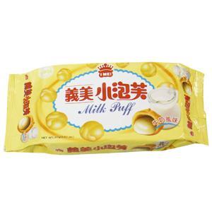 義美小泡芙-牛奶口味(57g/包)【合迷雅好物商城】