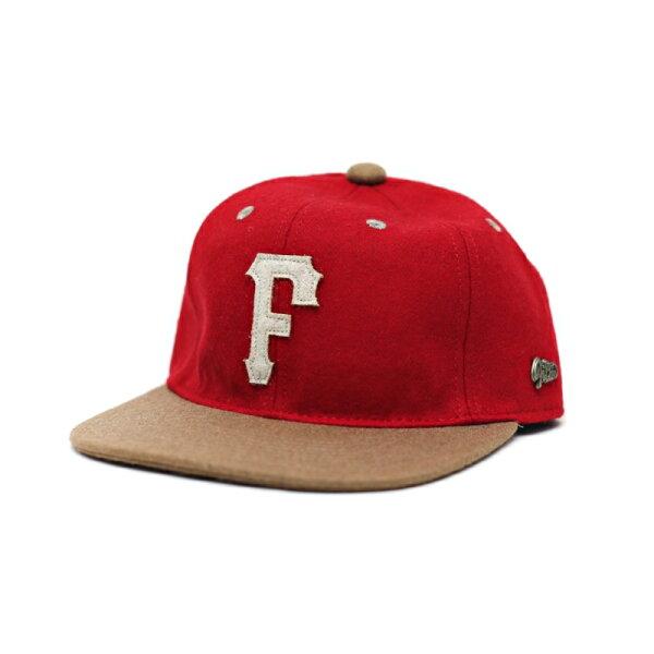 ►法西歐_桃園◄ Filter017 Letter F Woolen Baseball Cap 字母 毛呢 混紡羊毛料 素色 紅 棕色 皮帶扣 棒球帽