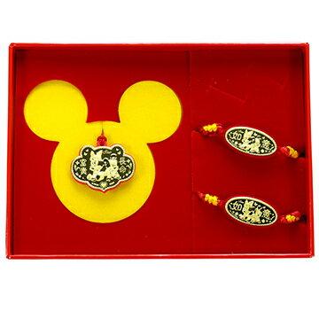 迪士尼金飾-兩小無猜-彌月金飾禮盒 (0.20錢)