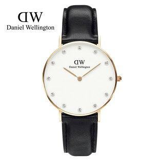 瑞典正品代購 Daniel Wellington 0951DW  玫瑰金鑽  真皮 錶帶 男女錶 手錶腕錶 26MM