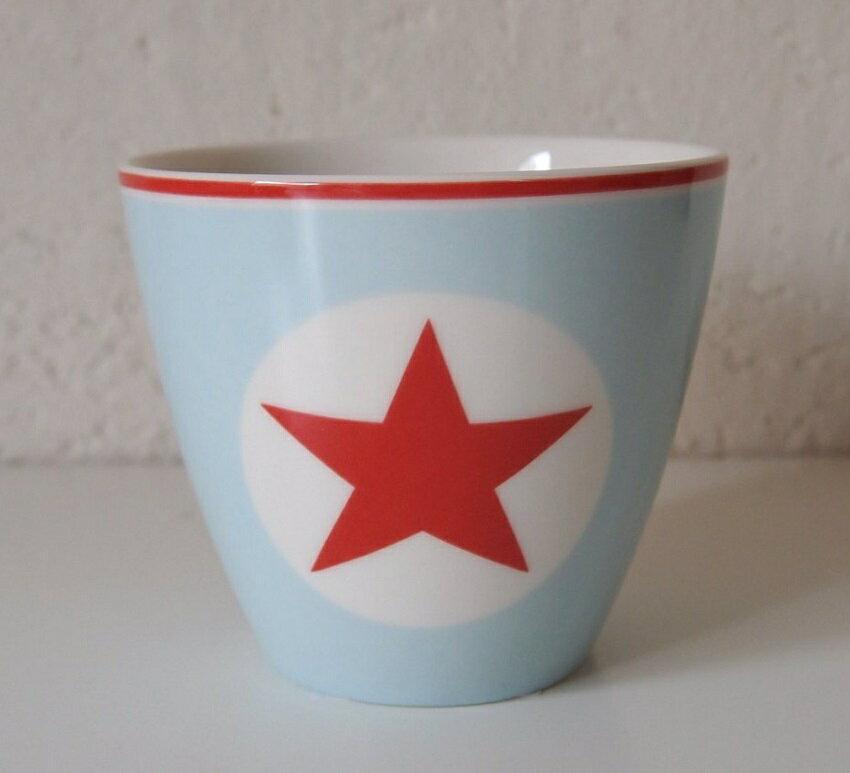 【預購】GreenGate  拿鐵杯    美式風格~藍底配紅五角星 - 限時優惠好康折扣