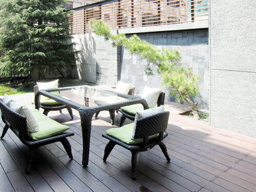 OSAKA 大阪 長型餐桌 戶外家具【7OCEANS七海休閒傢俱】EXPRESSO 黑褐色 1