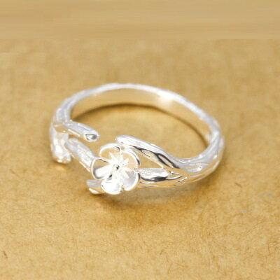 925純銀戒指開口戒~唯美花朵樹枝 生日情人節 女飾品73dt429~ ~~米蘭 ~ ~