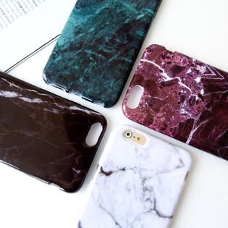 iPhone 6 6s Plus 簡約時尚大理石紋保護殼 爆裂紋 軟殼 手機殼 蘋果6 i6【N201437】