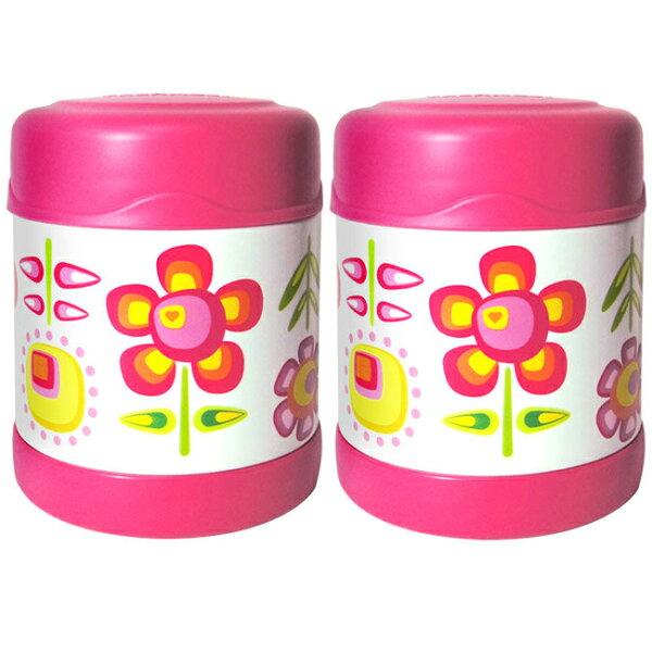 膳魔師0.3L小花兒不鏽鋼真空食物罐 F3001FFP6(超值2入組)