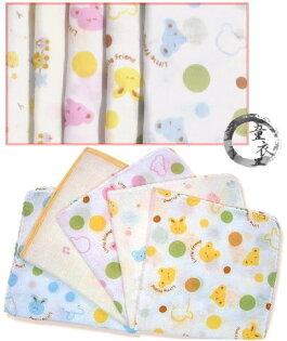 童衣圓【J005】J5紗布手帕 方巾 小毛巾 手巾 洗澡巾 餵奶巾 雙層 紗布巾