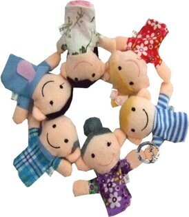 童衣圓【N010】N10全家人指偶 親子必備 角色扮演 指偶 手偶 表演 故事 遊戲 道具 益智玩具