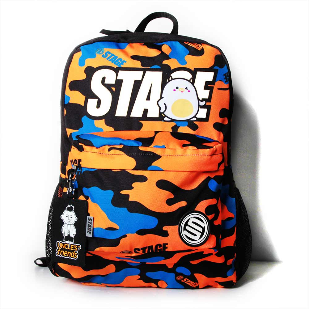 STAGE BAG × UNCLES FRIENDS TAURUS BACKPACK 橘黑色 金牛座 1