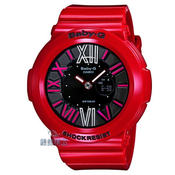 【錶飾精品】現貨卡西歐CASIO BABY-G多彩霓虹 3D立體層次 紅框黑 BGA-160-4B 正品禮物