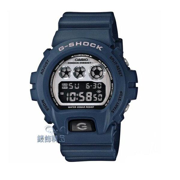 【錶飾精品】現貨CASIO卡西歐G-SHOCK搖滾金屬拋光效果 DW-6900HM-2 深藍色DW-6900HM-2ER