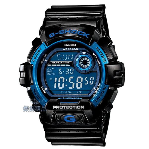 【錶飾精品】現貨卡西歐CASIO G-SHOCK液晶數位錶面 G-8900A-1 黑藍G-8900A-1DR全新正品