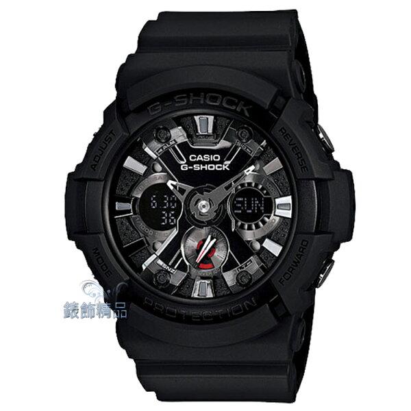 【錶飾精品】現貨卡西歐CASIO G-SHOCK X型紋路 金屬機械設計 GA-201-1A正品GA-201-1ADR