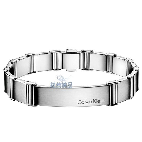 【錶飾精品】Calvin Klein CK飾品 ck男性手鍊-invigorate啟示系列 316L白鋼 KJ2FMB080100 霧面全銀 正品