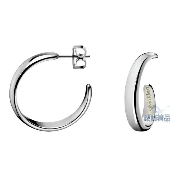 【錶飾精品】Calvin Klein CK飾品 ck耳環embrace擁抱系列-銀 316L白鋼KJ2KME000100