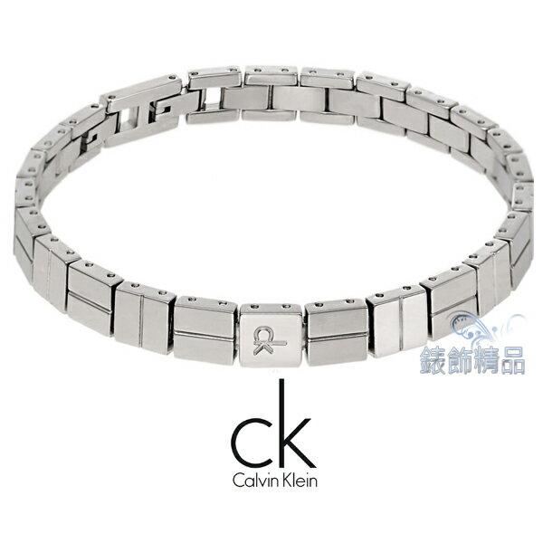 【錶飾精品】Calvin Klein CK JEWELRY/CK飾品/ck幾何圖形手鍊.限量/316L白鋼 KJ65AB010200 全新原廠正品 生日 情人節 禮物 禮品