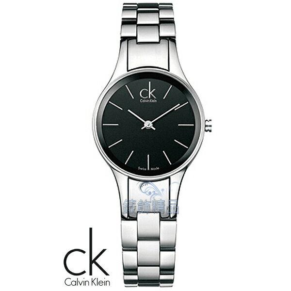 【錶飾精品】CK Calvin Klein ck錶 ck手錶 簡約時尚 氣質淑女 黑面鋼帶女錶K4323130全新原廠正品