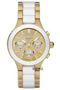 【錶飾精品】DKNY WATCH/DKNY手錶/DKNY錶陶瓷錶金面女錶 NY8258全新原廠正品