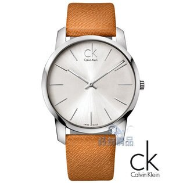 【錶飾精品】CK WATCH/CK錶/CK手錶/Calvin Klein簡約時尚/橘色皮帶男錶K2G21138(大)全新原廠正品