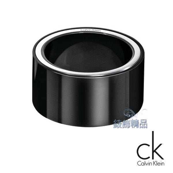 【錶飾精品】Calvin Klein/CK JEWELRY/CK飾品/ck戒指-炫黑街頭系列/316L白鋼KJ0FBR1001全新原廠正品
