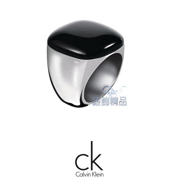 【錶飾精品】Calvin Klein/CK JEWELRY/CK飾品/ck戒指-黑玻璃纖維/316L白鋼KJ0CBR0201全新正品