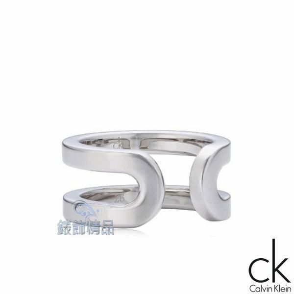 【錶飾精品】Calvin Klein CK飾品 ck戒指 return呼應系列-銀 316L白鋼KJ0ZMR0001 全新原廠正品