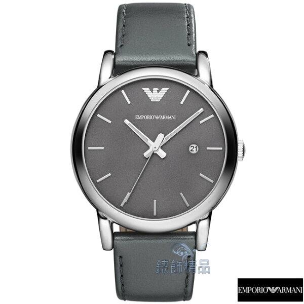 【錶飾精品】ARMANI手錶/ARMANI錶/亞曼尼表 日期 灰綠面 夜光指針 灰綠皮帶男錶AR1730