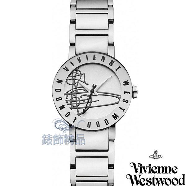 【錶飾精品】Vivienne Westwood 英倫時尚腕錶 星球 銀面 亮霧面鋼帶VV089SL原廠正品 禮物