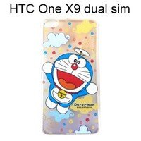 小叮噹週邊商品推薦哆啦A夢透明軟殼 [漸層雲朵] HTC One X9 dual sim 小叮噹【正版授權】