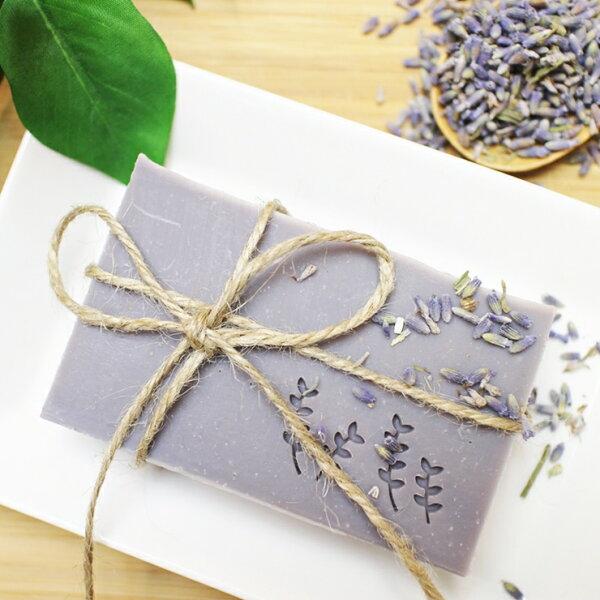 【蕾安柏手工皂】紫草馬賽皂。紫草根浸泡油│天然薰衣草香│無添加精油│純天然手工皂