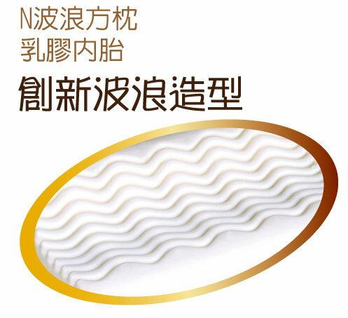 Mam Bab夢貝比 - 好夢熊乳膠枕心N波浪方枕 (粉、黃、藍) 4