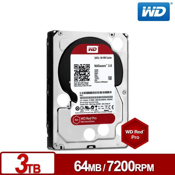 ★綠G能★全新★WD3001FFSX 旗艦紅標 3TB 3.5吋NAS硬碟7200RPM 5年保