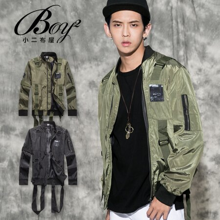☆BOY-2☆ 【NQ98067】美式多帶印花飛行夾克外套 1