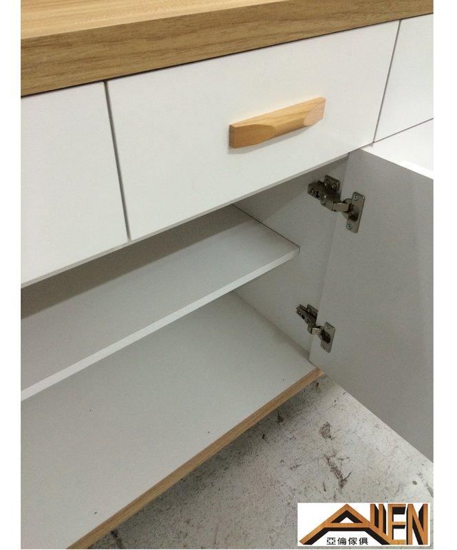 亞倫傢俱*安摩爾安全R角2.7尺碗盤收納櫃全組 2