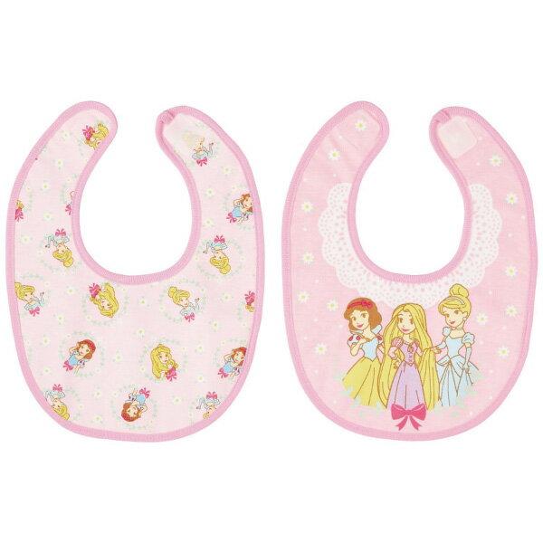 日本 【迪士尼 Disney 】公主口水巾/圍兜(2件組) - 限時優惠好康折扣