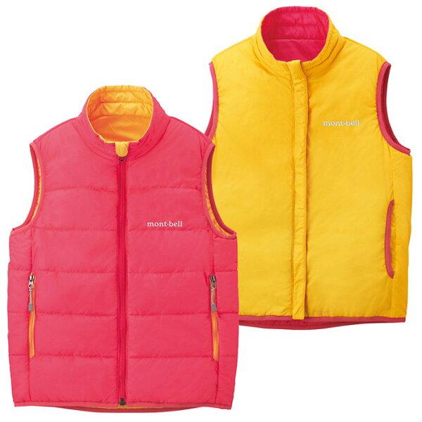 【鄉野情戶外專業】 mont-bell |日本| THERMAWRAP 雙面穿化纖外套/背心外套/1101456 【兒童款80-90】