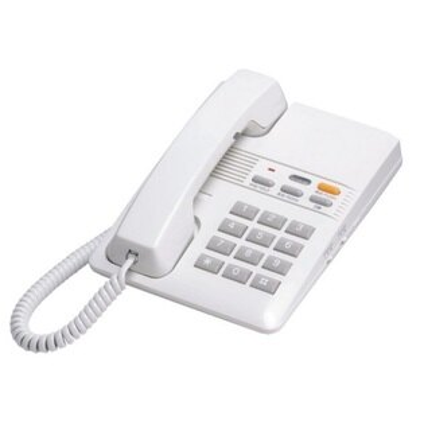 瑞通 電話機RS-802HF-LG 淺灰色/白色