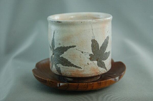 瓷器藝品/秋葉瓷杯 日本10天直購品