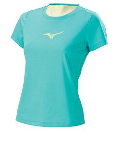 [陽光樂活]MIZUNO美津濃(女)LOGO短袖T恤 火鳥標 32TA620423 (冰晶藍)
